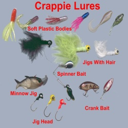 Crappie lures to catch crappie slabs part 1 for Crappie fishing tackle